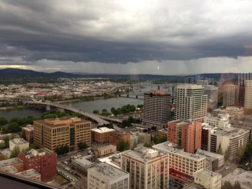 Portland skyline 2013