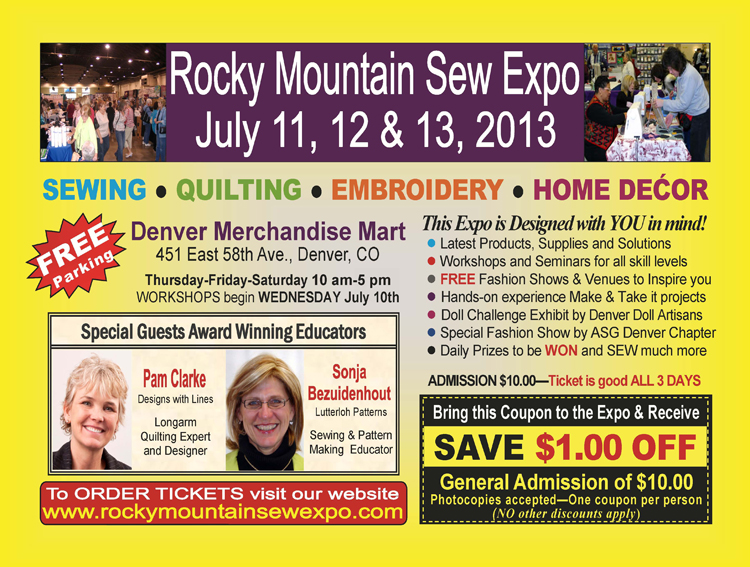 Rocky mtn sew expo w coupon