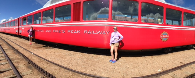 Denver cog Railway at Pikes Peak