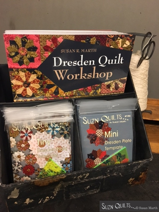Suzn+Quilts+Dresden+Quilt+Workshop+new+books+and+templates+string+holder