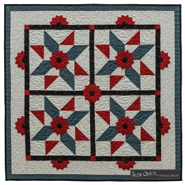 Suzn+Quilts+Dresden+Quilt+Workshop+Star+Spangled+Dresdens